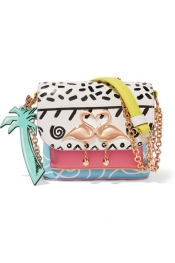 SOPHIA WEBSTER Mini Claudie Kapowski printed leather shoulder bag