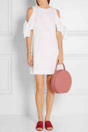 MANSUR GAVRIEL Circle leather tote