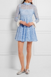 TOPSHOP UNIQUE Taplow guipure lace mini dress