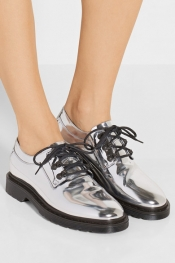 MM6 MAISON MARGIELA Mirrored-leather brogues