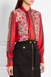 ALEXANDER MCQUEEN Paisley-print silk-twill blouse