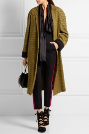 HAIDER ACKERMANN Wool and alpaca-blend houndstooth coat
