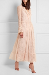 PHILOSOPHY DI LORENZO SERAFINI Ruffled lace maxi dress