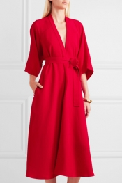 TOME Cutout crepe midi dress