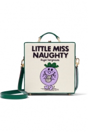 OLYMPIA LE-TAN Little Miss Naughty appliquéd cotton-faille shoulder bag