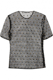ALEXANDER MCQUEEN Bee-appliquéd crochet top