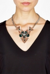 ANTON HEUNIS EXCLUSIVE ART DECO CRYSTAL CLUSTER NECKLACE