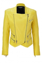 BALMAIN Sunshine Lambskin Biker Jacket