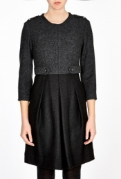 BURBERRY BRIT MILITARY WOOL DRESS