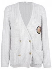 CÉLINE VINTAGE cable knit cardigan