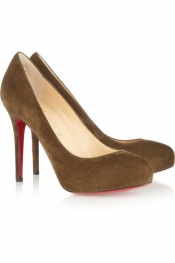 CHRISTIAN LOUBOUTIN New Declic 120 suede platform pumps