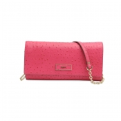 DKNY OSTRICH LEATHER CLUTCH