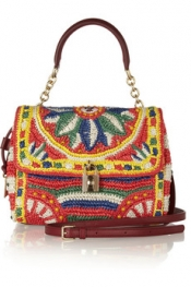 DOLCE & GABBANA Dolce medium woven raffia shoulder bag