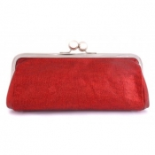 Duchess Red Glitter clutch