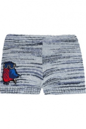 ÉTOILE ISABEL MARANT Shaper owl-intarsia cotton-blend shorts