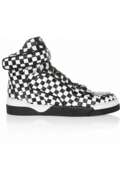 GIVENCHY Tyson black and white woven leather sneakers