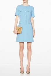 GOAT EXCLUSIVE CORNFLOWER SYLVIE POCKET SHIFT DRESS