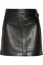 HELMUT LANG Ink leather mini skirt