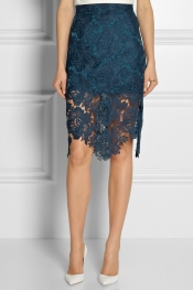 HOUSE OF HOLLAND Embroidered lace pencil skirt