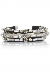 ISABEL MARANT Marchisette set of three silk and crystal bracelets