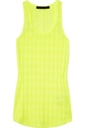 KARL LAGERFELD Judit burnout racer-back tank