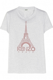 KENZO Eiffel Tower-print cotton-jersey T-shirt