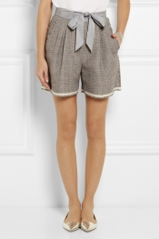 LANVIN Cotton-blend tweed shorts
