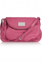 MARC BY MARC JACOBS Classic Q Natasha textured-leather shoulder bag