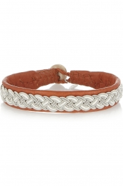 MARIA RUDMAN Embroidered leather bracelet