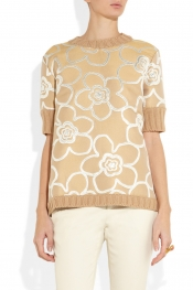 MARNI Jacquard-paneled knitted sweater