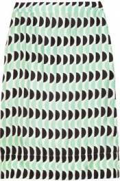 MARNI Printed sateen-twill skirt