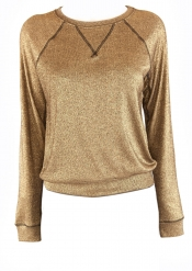 Andy Metallic Gold Jumper