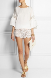 MICHAEL KORS Cotton-blend lace shorts