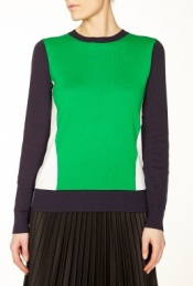 MICHAEL MICHAEL KORS COLOUR BLOCK CREW NECK SWEATER