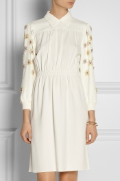 MIU MIU Embellished crepe dress