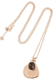 MONICA VINADER Siren rose gold-plated quartz necklace