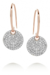 MONICA VINADER Ava 18-karat rose gold-vermeil and diamond drop earrings