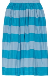 BURBERRY BRIT Striped silk skirt