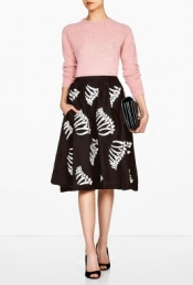 YMC BONE PRINT FULL SKIRT