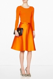 CARVEN FULL SATIN SKIRT