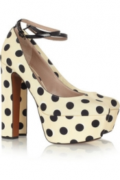ROCHAS Polka-dot twill pumps