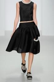 SIMONE ROCHA Faux pearl-embellished scuba-mesh skirt