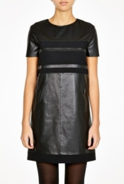 Aureo Leather Panel Dress by Sportmax Code