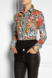 VERSUS Printed denim jacket