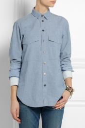 VICTORIA BECKHAM DENIM Cotton-chambray shirt