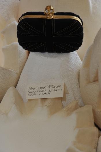 Alexander McQueen wool clutch