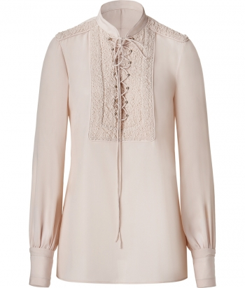 Givenchy nude silk top