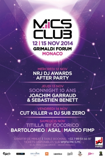 Le Monaco International Clubbing Show 2014, Programmation