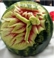 Watermelon art crafting