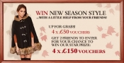 Win 4 x £50 and 4 x £150 for new season style